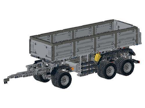 Bauanleitung Anhänger Kipper Drehschemel 42043 Eigenbau Unikat Moc