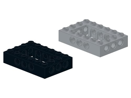 Technic, Brick 4 x 6 Open Center 40344 32531