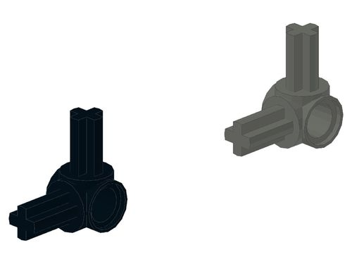 Technic, Axle and Pin Connector Hub with 2 Perpendicular Axles 10197