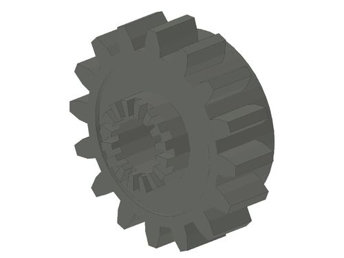 Technic, Gear 16 Tooth with Clutch on Both Sides 6542