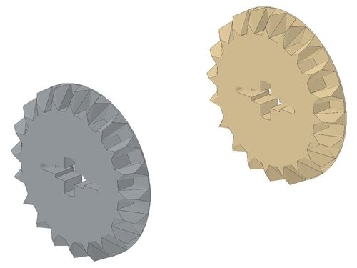 Technic, Gear 20 Tooth Bevel with Pin Hole 32198
