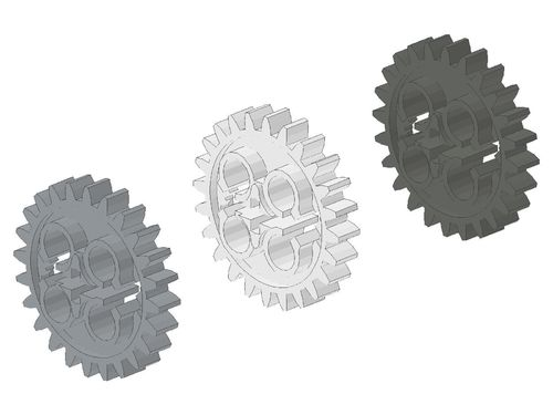 Technic, Gear 24 Tooth (New Style with Single Axle Hole) 3648 24505
