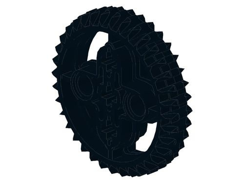 Technic, Gear 36 Tooth Double Bevel 32498