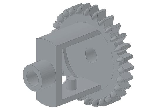 Technic, Gear Differential (Old Style, 28 Teeth) 73071