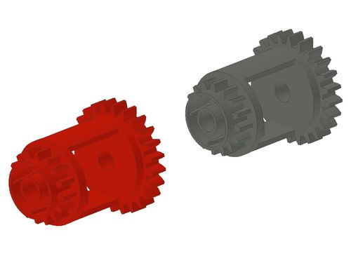 Technic, Gear Differential with Inner Tabs and Closed Center, 28 Bevel Teeth 6573