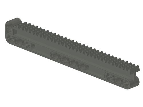 Technic, Gear Rack 1 x 14 x 2 with Axle and Pin Holes (fits housing 18940) 18942