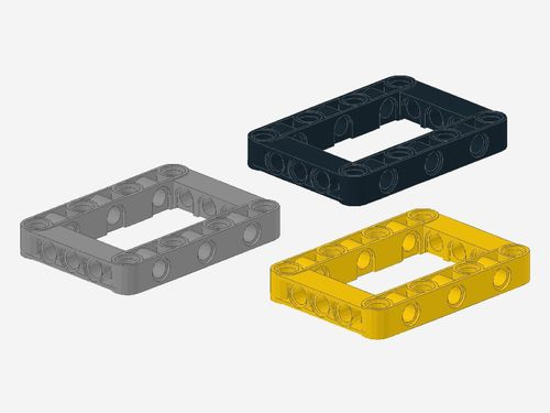 Technic, Liftarm 5 x 7 Open Center Frame Thick 64179