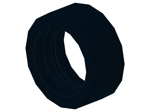 Tire 14mm D. x 6mm Solid Smooth 50945 50951